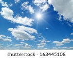white clouds in blue sky | Shutterstock . vector #163445108