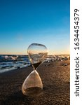 Time Is Over. Hourglass On The...