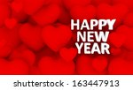3d multiple red hearts with... | Shutterstock . vector #163447913