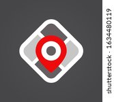map logo. pin icon. location... | Shutterstock .eps vector #1634480119