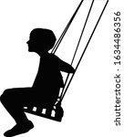 a boy swinging body silhouette... | Shutterstock .eps vector #1634486356