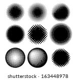 spotted flash   halftone... | Shutterstock .eps vector #163448978