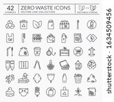 zero waste line icons. outline... | Shutterstock .eps vector #1634509456
