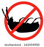 dead bug vector silhouette...