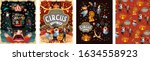 welcome to the circus  vector...   Shutterstock .eps vector #1634558923