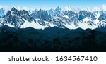 vector seamless Andes mountains with  rainforest Jungle forest background
