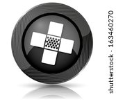 shiny glossy icon with white... | Shutterstock . vector #163460270