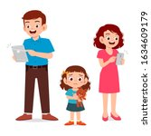 sad little kid girl ignored by...   Shutterstock .eps vector #1634609179