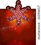 Christmas snowflakes / vector background / with mesh /  cmyk color - stock vector