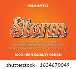 modern retro text effect orange ... | Shutterstock .eps vector #1634670049