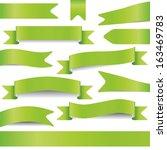 set of green ribbons | Shutterstock .eps vector #163469783