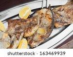 grilled tuna fish tuna fish.... | Shutterstock . vector #163469939