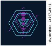this is geometric original... | Shutterstock .eps vector #1634715646