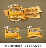 wooden toolbox vector icon | Shutterstock .eps vector #163472399