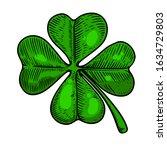 illustration of leaf of clover... | Shutterstock .eps vector #1634729803