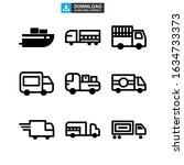 shipping icon or logo isolated...   Shutterstock .eps vector #1634733373