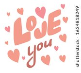 valentine's day greeting card....   Shutterstock .eps vector #1634818249