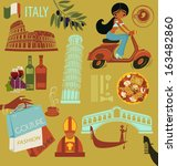 italy  landmarks  symbols and...   Shutterstock .eps vector #163482860