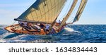 Classic Yacht Under Full Sail...