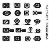 Camera Icons Set - Isolated On White Background - Vector Illustration, Graphic Design Editable For Your Design