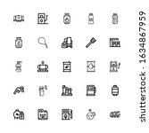 editable 25 pump icons for web... | Shutterstock .eps vector #1634867959