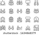 set of meeting icons  people ... | Shutterstock .eps vector #1634868379