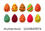 collection of flat colorful... | Shutterstock .eps vector #1634869876