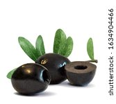 black olives low poly.... | Shutterstock .eps vector #1634904466