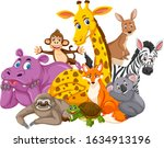 different types of wild animals ... | Shutterstock .eps vector #1634913196