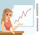 business woman | Shutterstock .eps vector #163492070