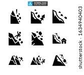 Falling Rocks Icon Or Logo...