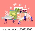 frozen food concept. tiny male... | Shutterstock .eps vector #1634959840