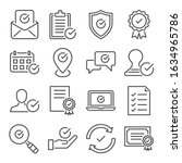 approve line icons set vector... | Shutterstock .eps vector #1634965786