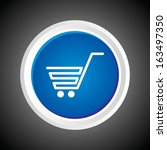 icon of shopping cart on button ... | Shutterstock .eps vector #163497350