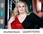 Small photo of London, United Kingdom- February 2, 2020: Rebel Wilson attends the British Academy Film Awards at the Royal Albert Hall in London, UK.