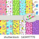 collection of patterns for... | Shutterstock .eps vector #163497770