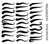 text swooshes collection. tail... | Shutterstock .eps vector #1635009586