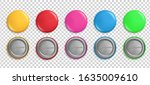 pin buttons. round badges ... | Shutterstock .eps vector #1635009610