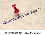 questions to ask | Shutterstock . vector #163501100