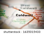 Caldwell on a geographical map of USA