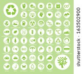 ecology and recycle icons ...