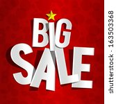 creative big sale on red... | Shutterstock .eps vector #163503368
