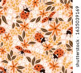 Vector Insect Seamless Pattern. ...