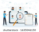 concept online recruitment ...   Shutterstock .eps vector #1635046150