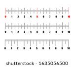 scale for rulers. ruler scale.... | Shutterstock .eps vector #1635056500