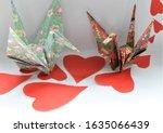 valentine  red hearts  japanese ...   Shutterstock . vector #1635066439