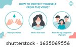 how to protect yourself from... | Shutterstock .eps vector #1635069556