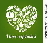 i love vegetables. concept... | Shutterstock .eps vector #163508060