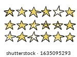 stars set in doodle style....   Shutterstock .eps vector #1635095293