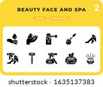beauty face and spa glyph icons ...